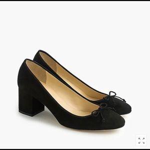 NIB J. Crew Shoes Evie Ballet Heel Size 7.5 Black